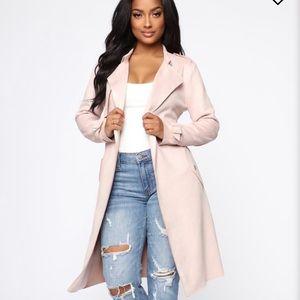 Fashion Nova On-the-go Trench Coat - blush